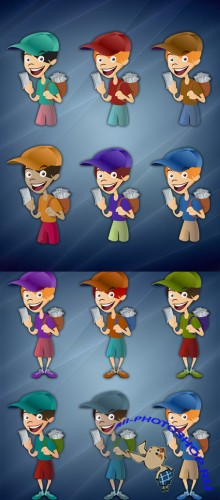 Messenger boy illustration for Photoshop - Aero