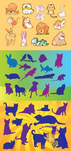 Vector Pets Silhouettes for Photoshop