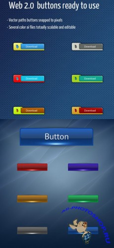 Web Button for Photoshop - Minimal