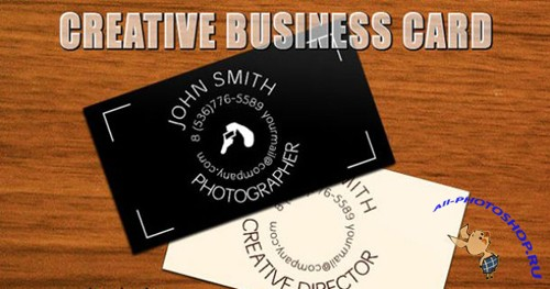 Creative Business Card Template Vector for Photoshop