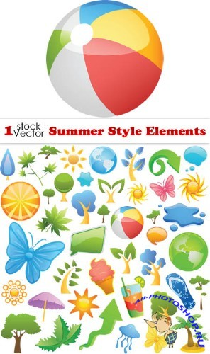Summer Style Elements Vector