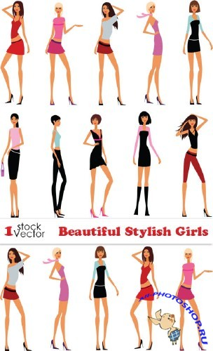 Beautiful Stylish Girls Vector