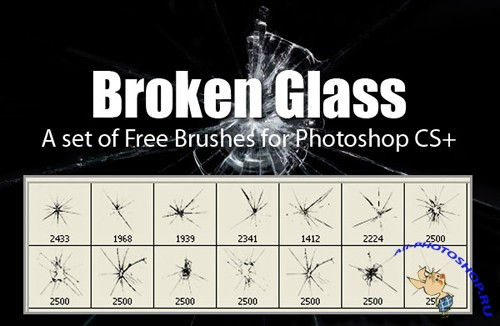 Broken Glass Brushes Set