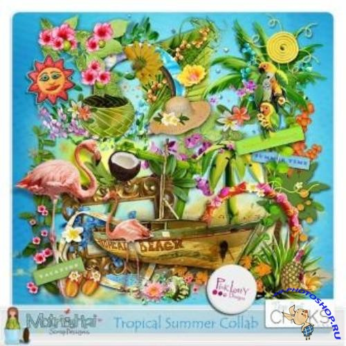 Скрап набор - Tropical summer collab