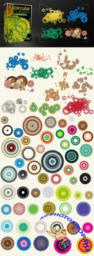 67 Circular Vectors Design Pack for Photoshop