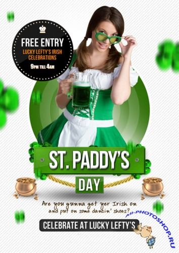 St Paddy's Day Flyer/Poster PSD Template