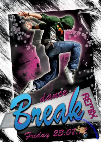 PSD Template - Break Dance Party Flyer/Poster Remix