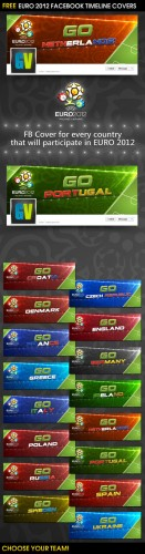 Euro 2012 Facebook Timeline Covers