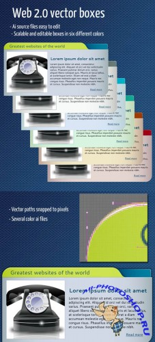 Web 2.0 Vector Boxes For Photoshop