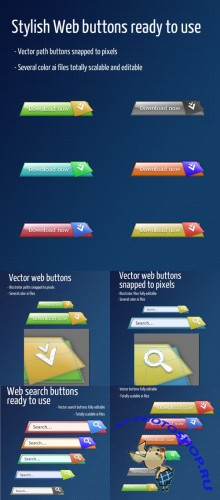 Web Search Buttons For Photoshop - Classy