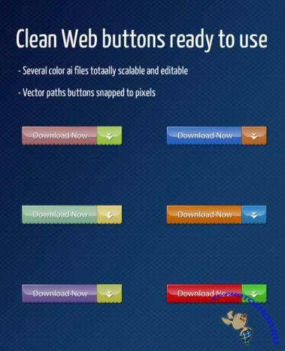 Web Buttons for Photoshop - Clean 2