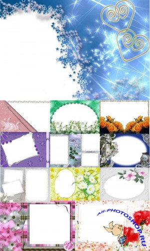 Collection of Spring Photo frames pack 4