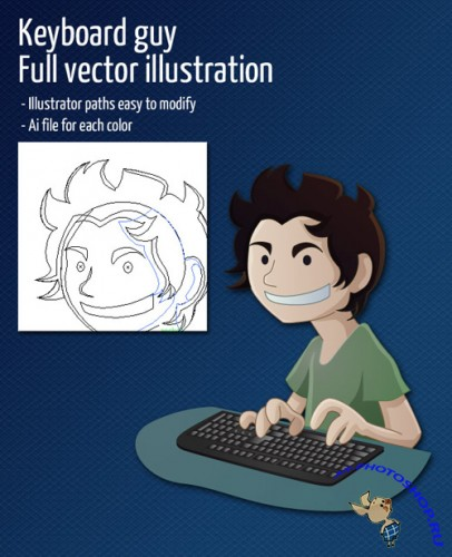 Keyboard Guy Vector for Photoshop