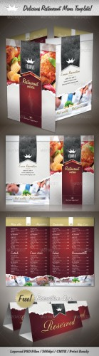 GraphicRiver - Delicious Restaurant Menu Template