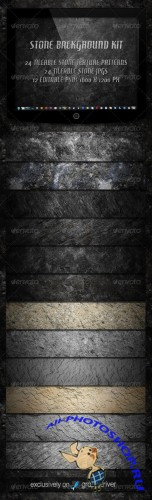 GraphicRiver - 12 Tileable Stone Textures Background Kit 2320580
