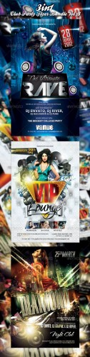 GraphicRiver - Club/Event Party Flyer Bundle Vol_3 - 2339318