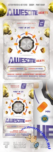 GraphicRiver - Awesome Beats Poster & Flyer 2408379