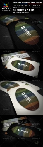 GraphicRiver - Night Business Card 2449137