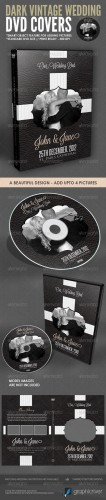 GraphicRiver - Dark Vintage Wedding DVD Cover Template 2243486