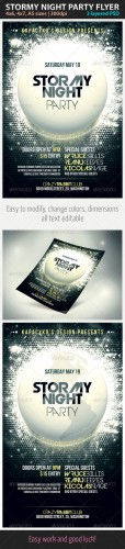GraphicRiver - Stormy Night Party Flyer 2326554