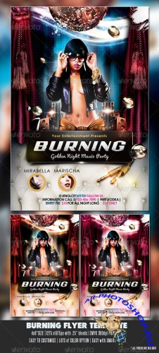 GraphicRiver - Burning Party Flyer 2320806
