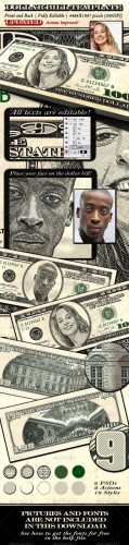 GraphicRiver - Dollar Bill Template - Front and Back - 1373600