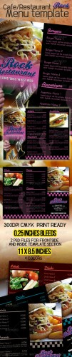 GraphicRiver - Rock Cafe Restaurant Menu Template 548809