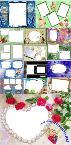 Collection of Spring Photo frames pack 8