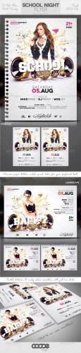 GraphicRiver - Club Sessions Flyer: School / College Night 2495747