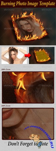 GraphicRiver - Burning Photo Image Template 2496846