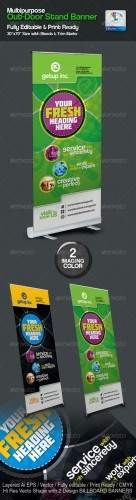 GraphicRiver - Multipurpose Out-Door Stand Banner Sinage 2491368