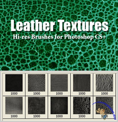 Leather Textures Brushes Set