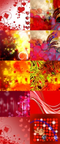 Red Fluttered Backgrounds