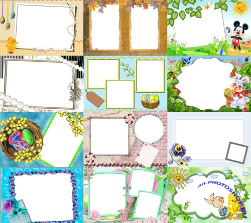 Collection of Spring Photo frames pack 41