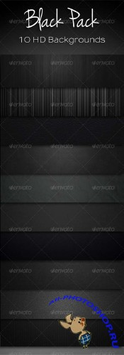 GraphicRiver 10 Black Backgrounds Bundle Template