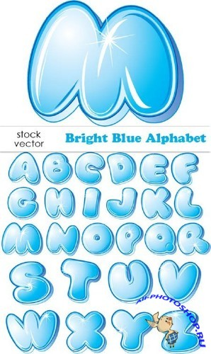 Vectors - Bright Blue Alphabet