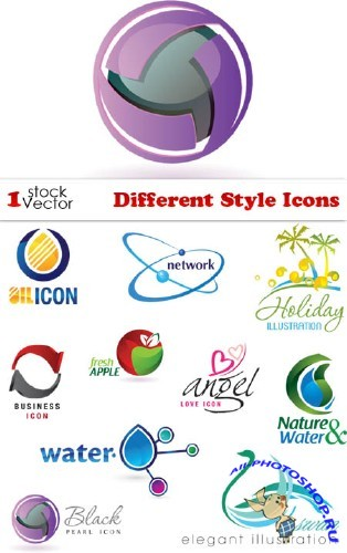 Different Style Icons Vector