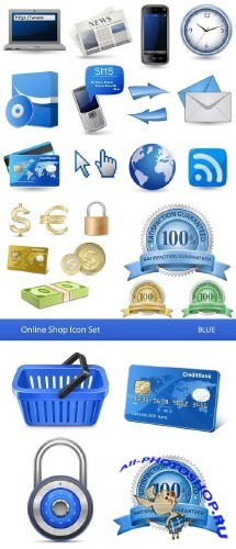 Stock: online store icon set 5