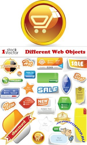 Different Web Objects Vector