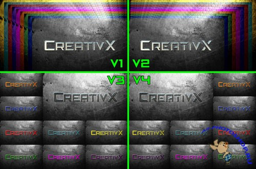 CreativX Steel Backgrounds Complete Pack