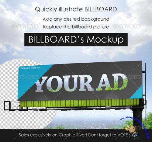 GraphicRiver - Professional Billboard mock up 155736