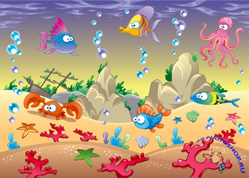 Underwater Animals Vectors