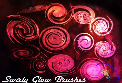 Swirly Glow Brushes Set
