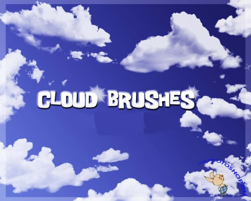 Cloud and ray Brushes Set