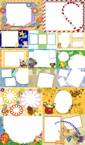 Collection of Spring Photo frames pack 12