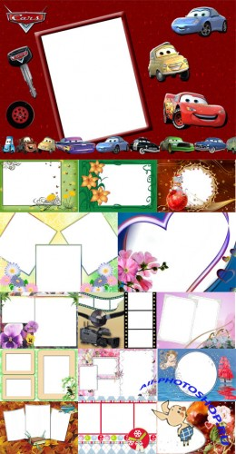Collection of Spring Photo frames pack 18