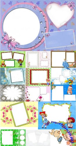 Collection of Spring Photo frames pack 20