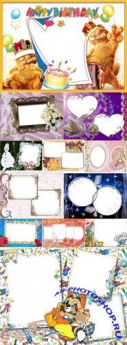 Collection of Spring Photo frames pack 24