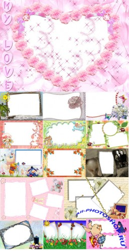 Collection of Spring Photo frames pack 22