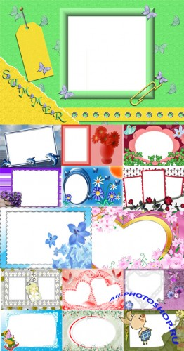 Collection of Spring Photo frames pack 27